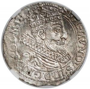 Zygmunt III Waza, Grosz Kraków 1604 - litera C - NGC MS63