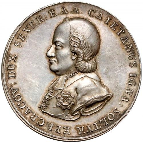 Poniatowski, Medal Kajetan Sołtyk 1788 r. - B.RZADKI i piękny