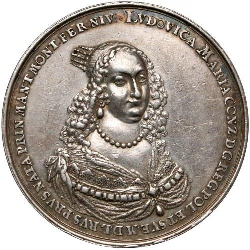 Władysław IV Waza, Medal zaślubinowy z Ludwiką Marią 1646 r. (Dadler) - B. RZADKI