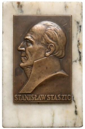 Plakieta MW (92x62) Stanisław Staszic w wykonaniu Mennicy na MARMURZE