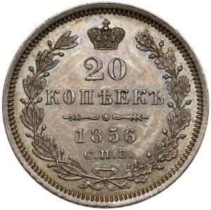 Rosja, Aleksander II, 20 kopiejek 1856 ФБ - piękne
