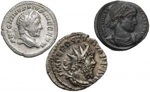Karakalla, Postumus i Konstantyn Wielki, zestaw 3 nominałów (3szt)