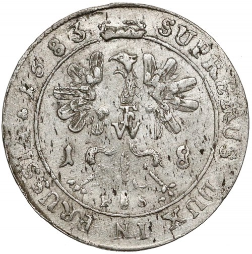 Prusy-Brandenburgia, Fryderyk Wilhelm, Ort Królewiec 1683 HS