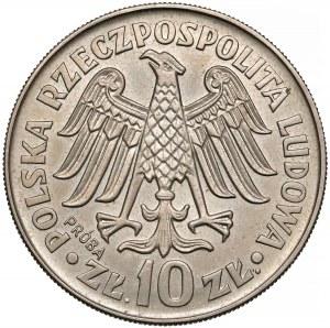 Próba MIEDZIONIKIEL 10 złotych 1964 Kazimierz Wielki - wypukły - b. rzadka