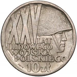 Próba MIEDZIONKIEL 10 złotych 1968, XXV lat LWP - b. rzadkie