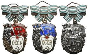ZSRR Order Macierzyńskiej Chwały I-III (3)