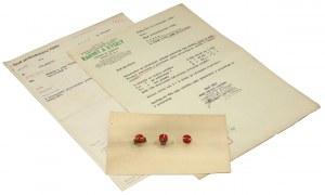 Rozety do butonierki Orderu Polonia Restituta - oferta wykonawcy z 1949 r.