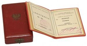 Order Odrodzenia Polski, Klasa V, ZŁOTO, Legitymacja z 3 stycznia 1945