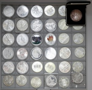 Srebrne monety uncjowe, 36x 1oz MIX w tym Kookaburra, Koala... (36)