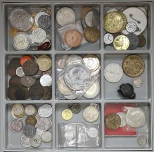 Zestaw monet, medali, żetonów... MIX