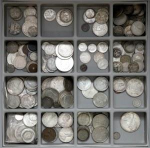 Zestaw monet świata - głównie SREBRO