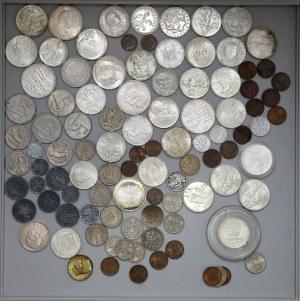 Czechosłowacja, ZESTAW monet (dużo srebrnych)