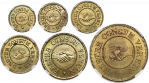 Rosja, Ryga, Consum Verein, 1-50 copecken 1865 (6szt)