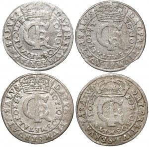 Jan II Kazimierz, Tymfy Bydgoszcz 1663-1666 - zestaw (4szt)