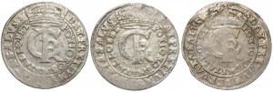 Jan II Kazimierz, Tymfy Bydgoszcz 1663-1666 - zestaw (3szt)