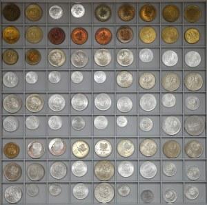 PRL zestaw menniczych monet, w tym lustrzane i z efektem proof-like (81)