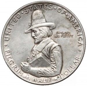 USA, 1/2 dolara 1920 - lądowanie Pielgrzymów w Plymouth