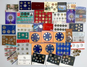 Zestawy rocznikowe i różne monety MIX - Czechosłowacja, Kanada, Polska (Mieszko i Dąbrówka x2) itp)