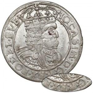 Jan II Kazimierz, Szóstak Lwów 1662 AT - BEZ Ślepowrona - piękny (R6)