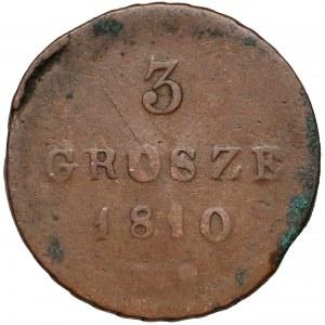 Księstwo Warszawskie, 3 grosze 1810 I.S.