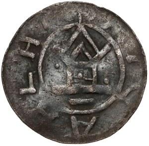 Niemcy, Saksonia, Otto III (983-1002), Denar z kapliczką