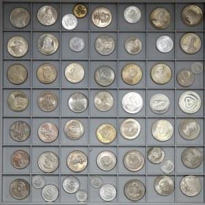 PRL zestaw pięknych monet, w tym Próby, Lustrzanki itp. (55)