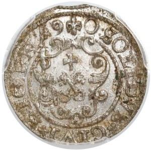 Zygmunt III Waza, Szeląg Ryga 1590 - PCGS MS63