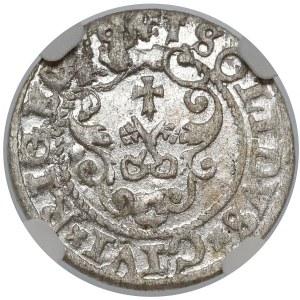 Zygmunt III Waza, Szeląg Ryga 1591 - NGC MS61