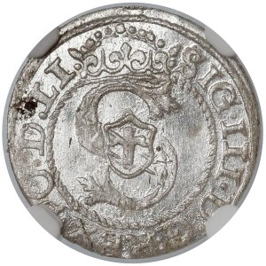 Zygmunt III Waza, Szeląg Ryga 1595 - NGC MS64