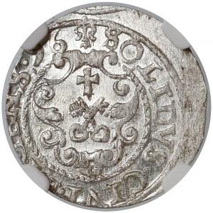 Zygmunt III Waza, Szeląg Ryga 1596 - RIGENS• - NGC MS63