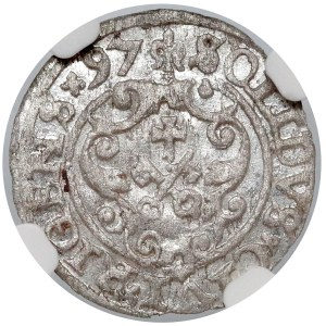 Zygmunt III Waza, Szeląg Ryga 1597 - NGC MS62