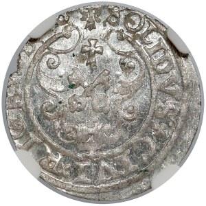 Zygmunt III Waza, Szeląg Ryga 1598 - NGC MS64