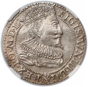 Zygmunt III Waza, Szóstak Malbork 1596 - NGC AU58