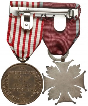 Medal SKARB NARODOWY z Legitymacją i Krzyż Zasługi (Spink)