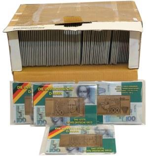 Niemcy, Plakiety z wizerunkiem banknotu 100 marek, pakiet (139szt)