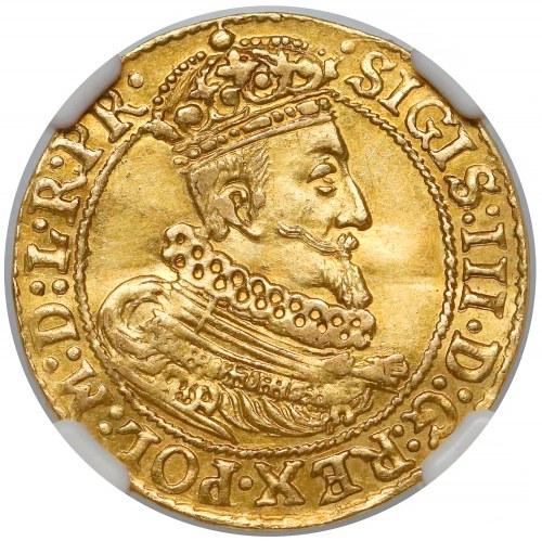 Zygmunt III Waza, Dukat Gdańsk 1629 SB - NGC MS62