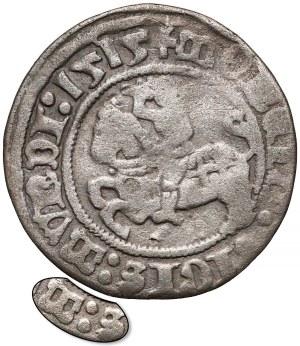 Zygmunt I Stary, Półgrosz Wilno 1515 - błąd SIGIS:MVNDI - rzadki