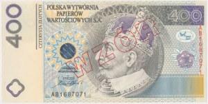 PWPW, 400 złotych 1996 - WZÓR na awersie