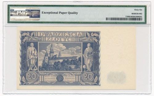 20 złotych 1936 -AM- PMG 66 EPQ