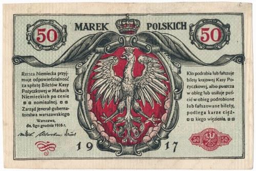 50 marek 1916 Jenerał - Fałszerstwo z epoki - rzadkie i ciekawe