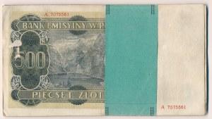 Paczka - 500 złotych 1940 z oryginalną banderolą - stany obiegowe