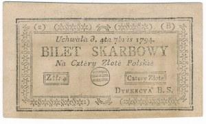 4 złote 1794 (2)(B) - ODWRÓCONY Malinowski - rzadki