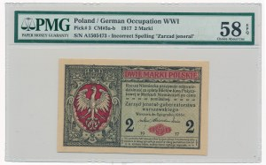 2 marki 1916 Jenerał -A- PMG 58 EPQ