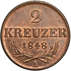 Austria, 2 krajcary 1848 Wiedeń