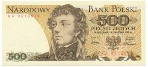 500 złotych 1974 -AA- bardzo rzadka seria