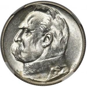 Piłsudski 5 złotych 1934 - Strzelecki - NGC AU58