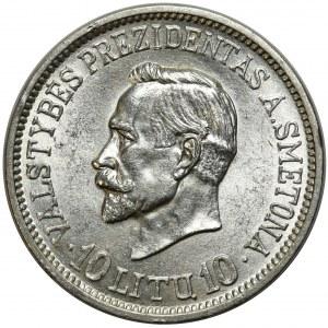 Litwa, 10 litu 1938 - Antanas Smeteona