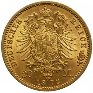 Niemcy - Prusy Wilhelm I - 20 marek 1872 C