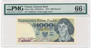 1.000 złotych 1975 -A- PMG 66 EPQ - rzadka pierwsza seria