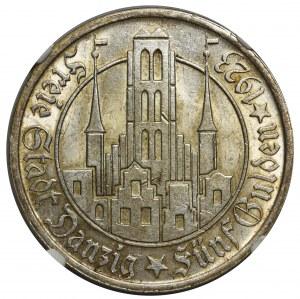 Wolne Miasto Gdańsk - 5 guldenów 1923 - NGC MS61
